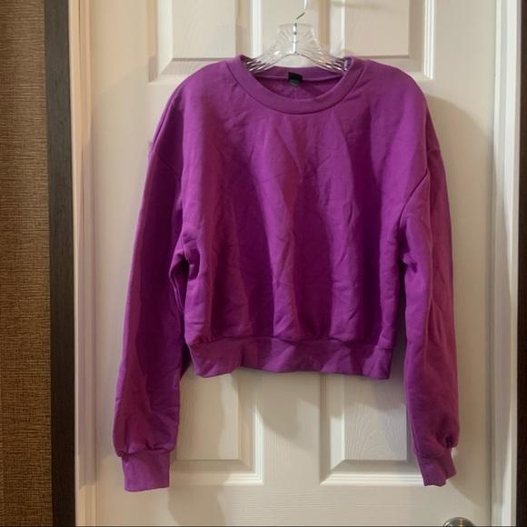 Wild Fable Magenta/Purple Crew Neck Sweatshirt L